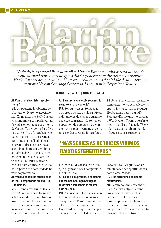 Entrevista a Marián Bañobre na Guía Cultural de Ferrol